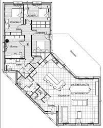 plan plain pied 5 chambres plan de maison plein pied en v maison maison plein