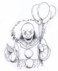 Creepy Halloween Coloring Pages by Scary Halloween Clowns Drawings U2013 Fun For Halloween