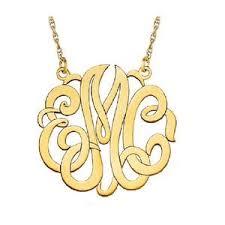 Single Initial Monogram Necklace Personalized U2013 Shop Mel Spivak