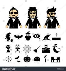 Halloween Icon Vector Halloween Icon Set On White Stock Vector 504163153