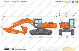 the blueprints com vector drawing hitachi zaxis 380hh excavator