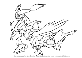 white kyurem learn how to draw white kyurem from step by step