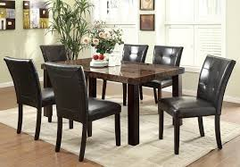 6 Seater Wooden Dining Table Design With Glass Top Coaster Dining Table Camille 7 Pc Dining Table Set In Antiue