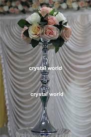 Vintage Flower Table Decorations Vintage Flower Vase Table Centerpiece 56cm Tall Mental Candle