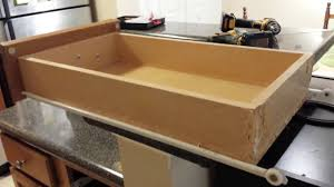 how to repair a kitchen drawer where front came off youtube