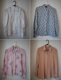 vintage blouse moodboard inspiration vintage blouses tucked into