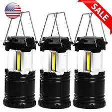 battery powered emergency lights for vehicles 3 pack portable led cob cing lantern battery powered for