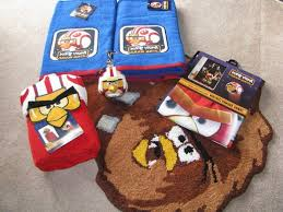 game themed and cartoon characters of angry birds bathroom set