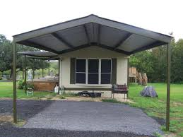Attached Carport Pictures Home Metal Roof Awning Carport La Vernia