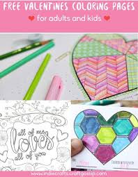 free valentines coloring pages for adults and kids u2013 indie crafts