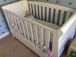Sleigh Cot Bed White Cotbed Kiddicare Woodhouse Sleigh Cotbed White In Milton Keynes