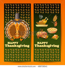 vector illustration autumn thanksgiving food symbols stock vector