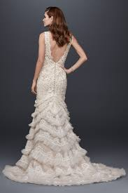 plunging neckline wedding dress beaded lace wedding dress with plunging neckline style swg689