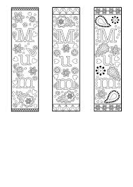bookmark template printable coloring bookmark template free pdf