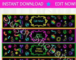 blacklight party supplies glow party etsy