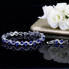 silver bracelet with stones images Tanzanite sterling silver bracelet jpg store jpg
