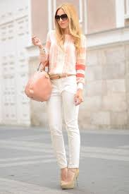 Blush Colored Blouse Business Attire Women U0027s Jeans For Office Work 2017 Fashiontasty Com