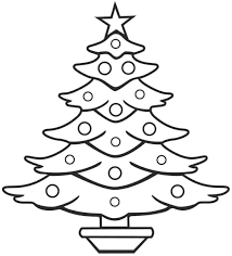 is decorating page free a christmas tree pictures to color