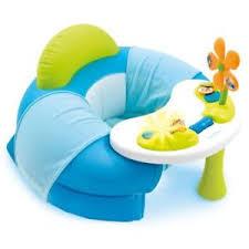 siege pour bébé smoby siège confortable avec table d activité pour bébé cotoons bleu