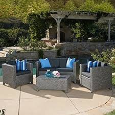 Cushions For Wicker Patio Furniture Home Outdoor Puerta 4 Furniture Grey Wicker