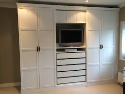 Bedroom Furniture Handles Manufacturers Ikea Pax Wardrobes Hacked To Look Built In With Leather Handles