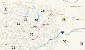 New York State Map New York State Route 166 Wikipedia