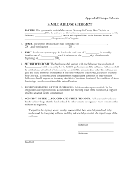 Example Of Special Power Of Attorney Letter by Appendix F Sample Sublease Sample Sublease Agreement Parties This