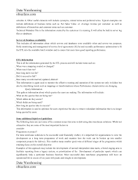 Data Warehouse Sample Resume by Data Warehouse Concepts