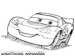lightning mcqueen coloring pages side view colouring pictures to