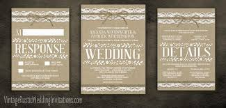 Rustic Invitations Burlap Wedding Invitations Vintage Rustic Wedding Invitations