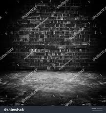 old dark room brick wall concrete stock photo 166205858 shutterstock