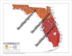 temperature map florida stockmapagency average temperature map of florida with