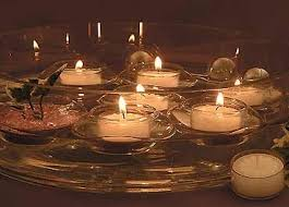 Floating Candle Centerpieces by Cylinder Bowl Floating Candle Centerpieces