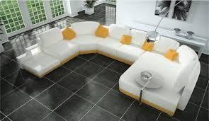 Leather U Shaped Sofa Modern U Shape White Leather Sectional Sofa Modern Living Room