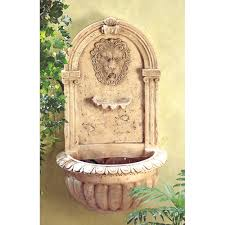 decorative water fountains for home amazon com lion head outdoor wall mount garden water fountain