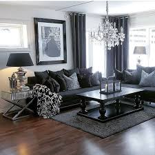 Black Sofa Living Room Living Room Gray Living Rooms Black Furniture Room Traditional