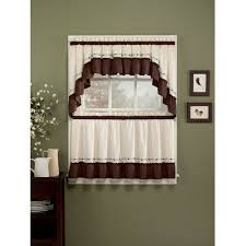 Window Curtains At Walmart Chf U0026 You Jayden Kitchen Curtains Set Of 2 Walmart Com