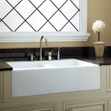 home decor white farmhouse kitchen sink cabinet door with glass