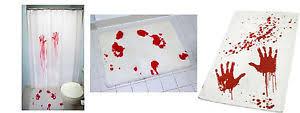 Blood Shower Curtain Bloodbath Set Hand Towel Shower Curtain Bathmat Blood