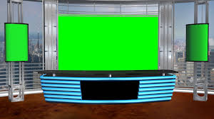 News Studio Desk by Virtual Studio Background D Youtube