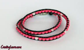 string bracelet with beads images Beaded wrap bracelets creating laura png