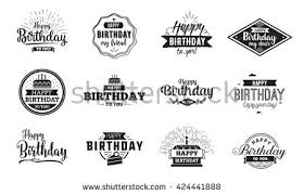 Design And Print Birthday Cards Happy Birthday Text Stock Images Royalty Free Images U0026 Vectors