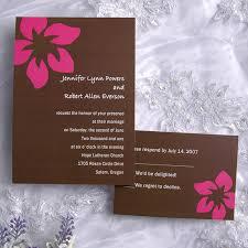 brown single flower wedding invitation iwi077 wedding