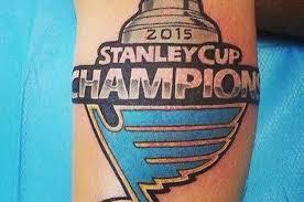 look blues fan u0027s u00272015 stanley cup champions u0027 tattoo was a bad