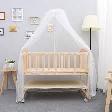 solid wood baby bed newborn children sleeping baby crib
