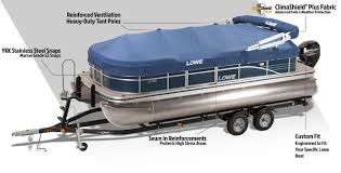 Vinyl Pontoon Boat Flooring by Lowe Pontoon Boat Covers Enclosures Double Biminis And Options