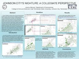 Johnson City Tennessee Map by Poster Presentations Jeremy Menzer