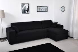 housse canapé angle canapé d angle microfibre noir maestro lestendances fr