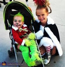 Grinch Halloween Costume Baby Grinch Cindy Lou Costumes Baby Grinch Cindy Lou