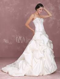 sweetheart bridal gown with beads milanoo com